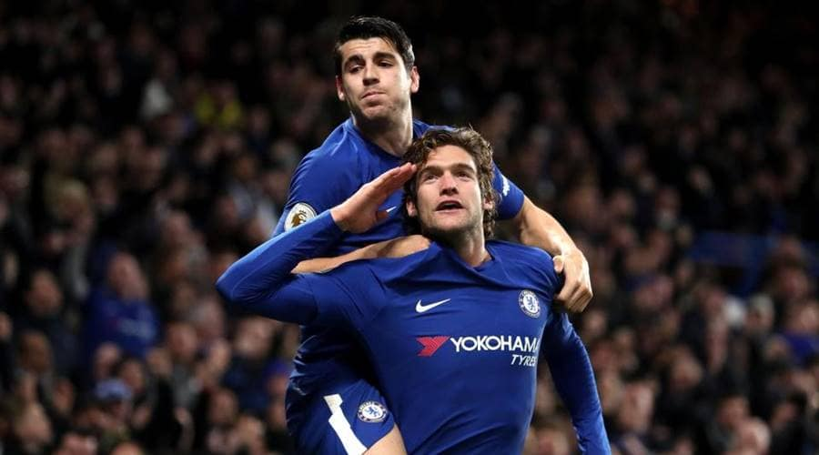 Marcos Alonso Chelsea's left-back is their joint second highest goalscorer in the Premier League behind Alvaro Morata