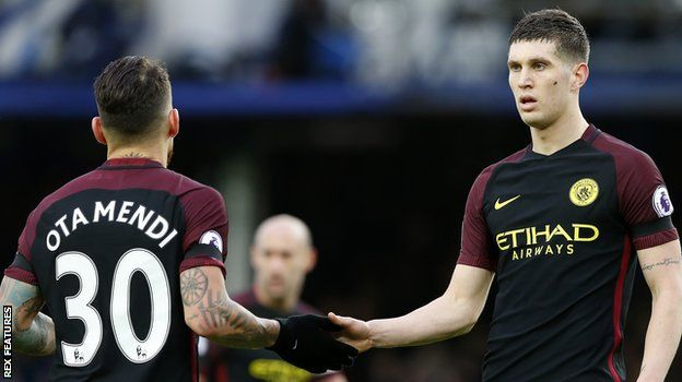 otamendi and john stones at Manchester City