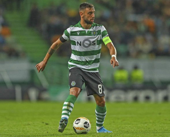 Bruno Fernandes playing for Sporting Lisbon
