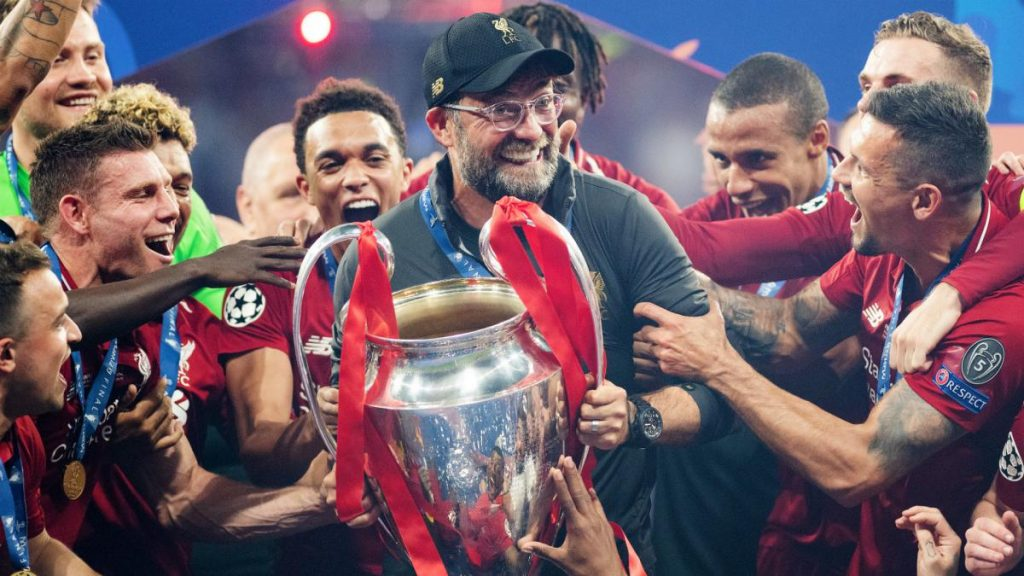 Liverpool won the  Champions League in 2019.