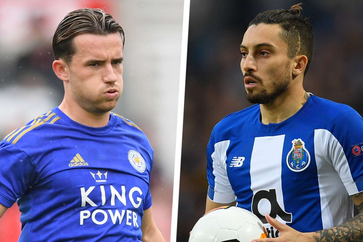 chilwell of leicester city and alex tellex of fc portu is linke to a move to Chelsea