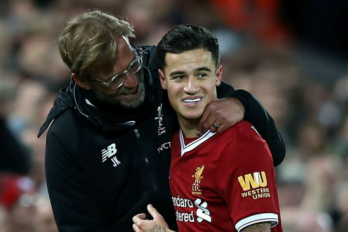 Jamie Carragher thinks Liverpool are missing Philippe Coutinho
