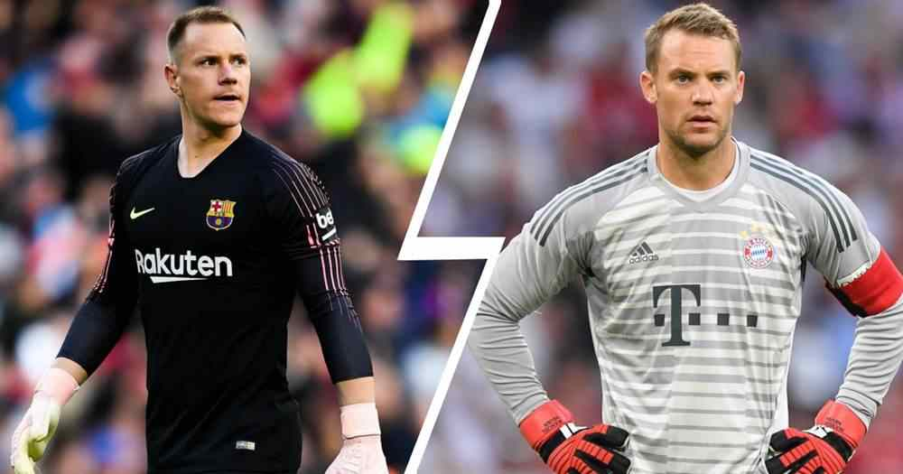 Ter Stegen shows why he will replace Neuer with instant double saves