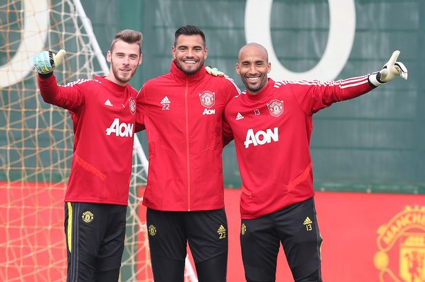 Lee Grant was  a mentor to some of the younger goalkeepers at United