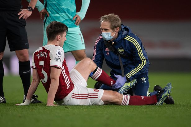 Tierney injured for Arsenal