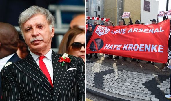 Arsenal fans demanding Stan Kroenke to give up ownership of Arsenal