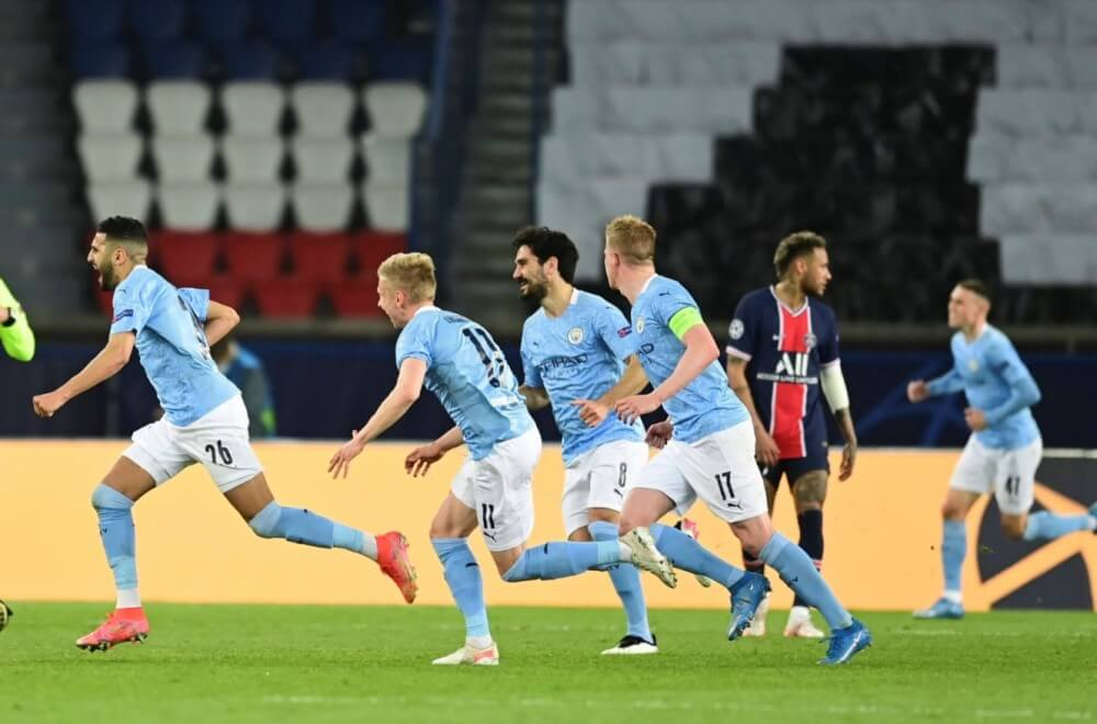 Manchester City defeated PSG in the first leg
