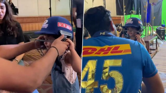 Rohit Sharma shares an adorable moment with his daughter Samaira