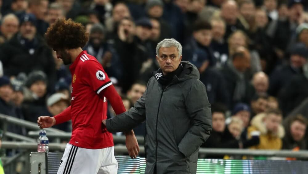 Jose Mourinho wants to reunite with Maruone Fellaini at Tottenham Hotspur