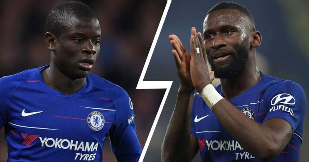 Chelsea players Kante and Rudiger best tacklers