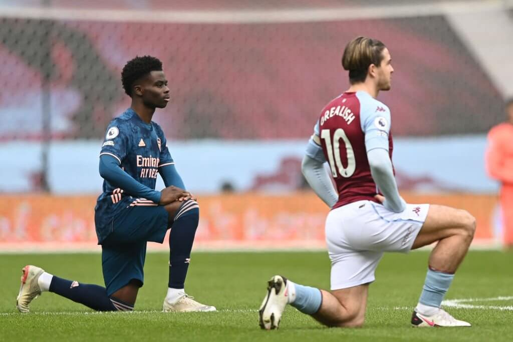 Jack Grealish and Arsenal's Bukayo Saka have a lot of mutual respect for each other