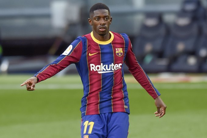 Barcelona may accept bids for Dembele and Liverpool and Manchester United are interested