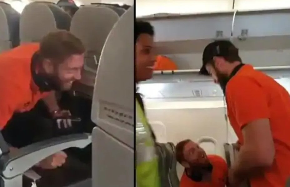 Video: When Bairstow hilariously tried to scare Williamson during a flight