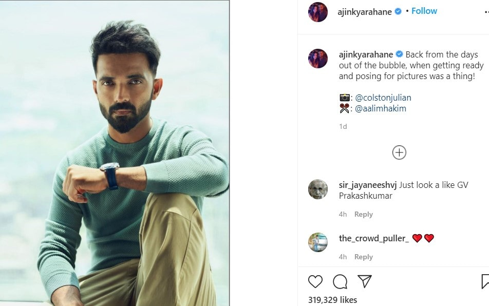 Rahane and Ashwin engage in light-hearted banter on Instagram