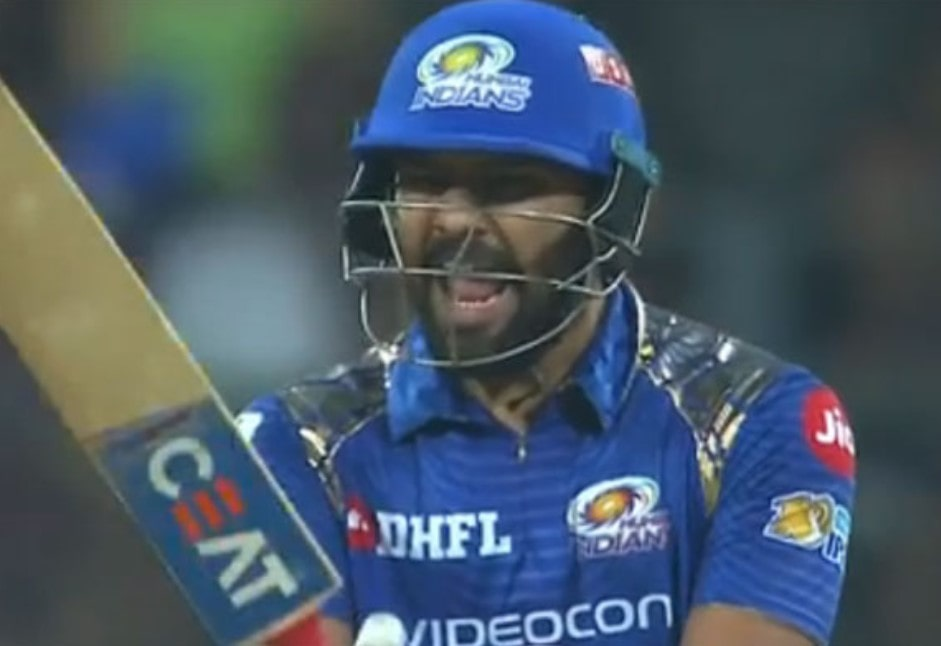 Video: MI captain Rohit Sharma absolutely livid with umpire wrong judgement