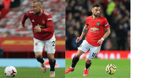 United have a very close battle between Luke Shaw and Bruno Fernandes for their player of the year award