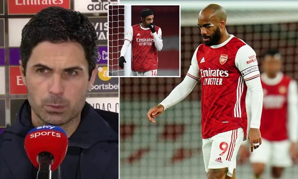 Lacazette's epic reaction to Ceballos' performance as Tierney suffers another injury