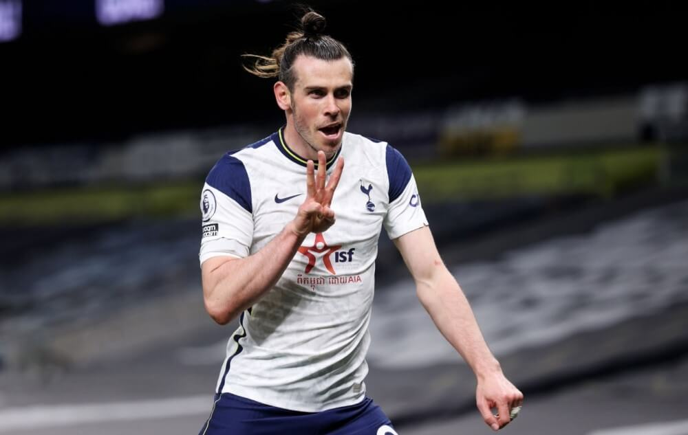 Gareth Bale scored his first hattrick for Tottenham since 2012