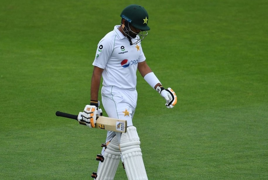 Watch: Babar Azam departs for a golden duck for the first time in Test cricket