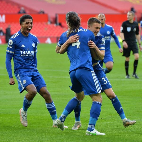 Leicester City defeat Manchester United 2-1