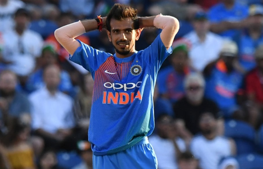 Video: Chahal gives a hilarious reaction after hitting a four against England