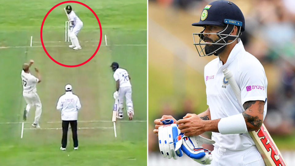 Indian fans abuse Kyle Jamieson on his Instagram after taking Virat Kohli's wicket