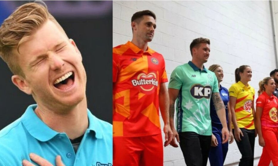 Jimmy Neesham jokingly reacts to his performance in The Hundred